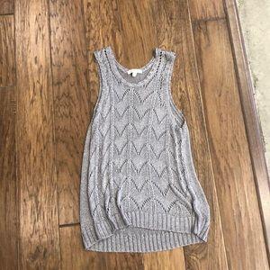 Ella Moss metallic knit sleeveless sweater